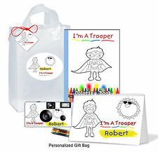 Personalized - Trooper Gift Bag for boy-Get Well- brave child, Disposable Camera