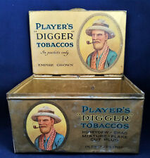 PLAYER'S DIGGER TOBACCOS STORE DISPLAY BOX  Tin Litho