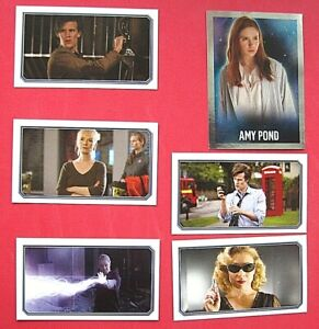 TOPPS - DOCTOR WHO - DARK BLUE  BACK - X 6 STICKERS - 2009 - VG  CONDITION