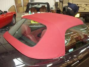 Fiat Barchetta - Burgundy Mohair Soft Top Hood With Plastic Rear Window