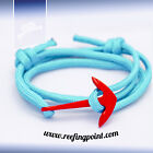 Nautical Rope bracelet - - Red Anchor :: Aqua Cord :: Gifts for sailors