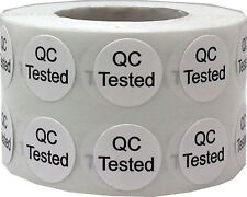 Quality Control QC Tested Stickers, 1/2 Inch Round, 1000 Labels on a Roll