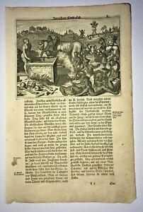 NATIVE PEOPLE OF HISPANIOLA 1673 MONTANUS RARE ANTIQUE VIEW 17TH CENTURY