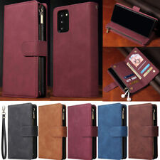 Zipper Wallet Leather Flip Cover Case For Samsung A12 A52 A72 A22 S21 S20 S10 S9