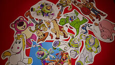 50 MINI TOY STORY VINYL STICKERS PARTY BAG FILLERS