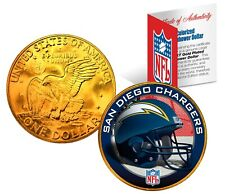 SAN DIEGO CHARGERS NFL LICENSED 24K Gold Plated IKE Eisenhower Dollar U.S. Coin