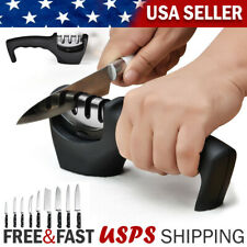 Knife Sharpener 3 Stage Ceramic Tungsten Kitchen Knives Blades Sharpening Tool