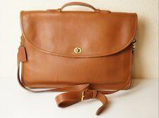 Vintage COACH Briefcase Shoulder Bag Business Office Genuine Leather Brown Great