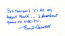 AUTHENTIC legendary sportscaster Ernie Harwell, including great quote, on card