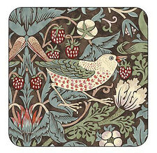 Pimpernel Strawberry Thief Brown Coasters Set of 6 William Morris Drink Mat New