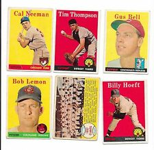 1958 topps baseball set- $1.10 ea card-VG condition -GREAT fillers- you pick lot