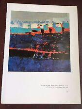"NICOLAS DE STAEL Seagulls 11.25/"" x 9.25/"" Poster 1977 Impressionism Black /& White"