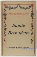 Sainte Bernadette Soubirous Jean-Bernard Lasserre 1935