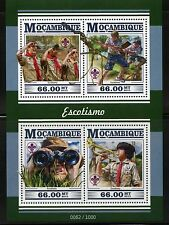 MOZAMBIQUE 2015 BOY SCOUTS  SHEET MINT NEVER HINGED
