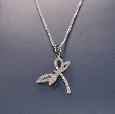 White Gold Diamond Dragonfly Necklace