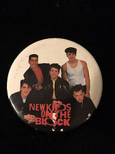 Vintage New Kids On The Block 1 1/2 Inch Pin Back Button-Nkotb Group
