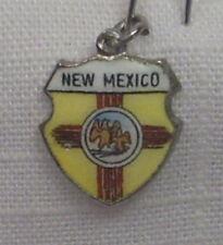 Vintage REU Sterling/Enamel New Mexico State Flag Bracelet/Travel Charm - NOS