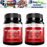 Musashi PRO Fat Metaboliser 120 Capsules Diet Weight Loss Fat Burn Slimming Pill