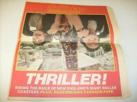 1985 Boston Herald Magazine Newspaper - Giant Roller Coasters - Paragon Park