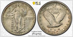 1925 25C PCGS AU55 Standing Liberty Quarter RicksCafeAmerican.com