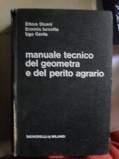 Iurcotta Genta MANUALE TECNICO DEL GEOMETRA E DEL PERITO AGRARIO 2° ed. 1965