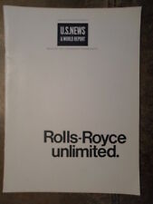 ROLLS ROYCE Unlimited 1968 Publicity Brochure Printed in USA - Aero Engines etc