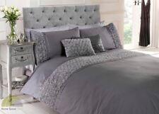 Raised Rose Quilt Duvet Cover & Pillowcase Bedding Bed Set Floral 3 Colours New