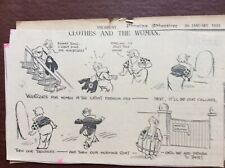 B9f Ephemera 1936 Original Cartoon Middleton Clothes And The Woman