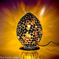 Mosaic Medium Egg Lamp - BLACK TILE Bedroom/Table Light Mood Lighting