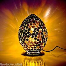 Mosaic Medium Egg Lamp - BLACK TILE Bedroom/Table Light Mood Lighting