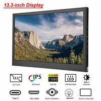 13.3 Inch TYPE-C USB C HDMI 1080P Ultra-thin Portable IPS HDR Display Monitor GB