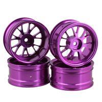 4pcs Purple Upgrade Aluminum Wheel Rims Y-Shape for RC1:10 On Road Car&Drift Car
