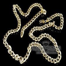 "Men's 10K 100% Yellow Gold Hollow Curb Cuban link Chain Necklace 26""/19.3g/6.5mm"