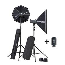 ELINCHROM D-lite RX ONE Studio Photography Flash Kit 2 Studio heads + Skyport !!