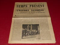 "[ Press WW2 39-45] "" Time Present - Hebdomadaire (Weekly) "" #4/15 September 1944"