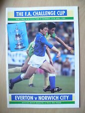 1989 FA CUP SEMI FINAL- EVERTON v NORWICH CITY, 15th April