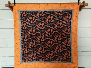 """Handmade Spooky Halloween Quilted Quilt Throw Wall Hanging 42"""" x 38"""""""