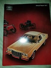 1977 FORD ANNUAL REPORT Thunderbird Mustang  F100 Cougar LTD Comet Cyclone 77