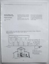 stampa ritaglio progetto architettura BOVILLE ERNICA FROSINONE CHIESA MARIA 1992