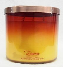 Bath & Body Works Home LEAVES 3-Wick Candle 14.5 oz