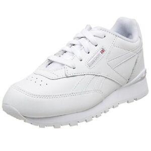 Preschool Reebok Classic Leather Conquest Clip White/Grey Brand New In Box