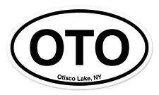 "OTO Otisco Lake New York Oval car window bumper sticker decal 5"" x 3"""
