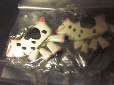 """EARRINGS Crazy Cow Moveable Legs 1"""" Silver Wires Contemporary Free US Shipping"""