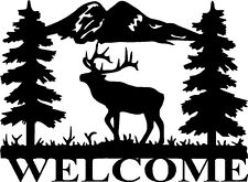 "Elk Wildlife Vinyl Decals Welcome Window Stickers (15"" x 11"")"