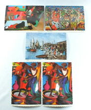 Vintage Haiti Art Postcards Red Carpet Art Gallery Lot of 5 1960s
