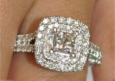 2.12 Ct Princess Cut Diamond Frame Solitaire Engagement Ring 14ct White Gold