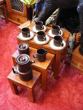 Doverstone Heather Staffordshire England Tea Set Milk Jug Cups Saucers Bowl Pot