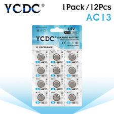 YCDC AG13 LR44 LR1154 SR44 A76 357A 303 357 Alkaline Coin Cell Batteries X12 46