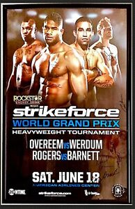 Strikeforce Official Event Signed HW Grand Prix Poster UFC Auto 76/125 OVEREEM !