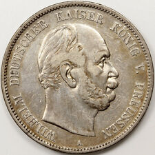 1875 A PRUSSIA GERMAN STATES 5 MARK SILVER COIN RARE